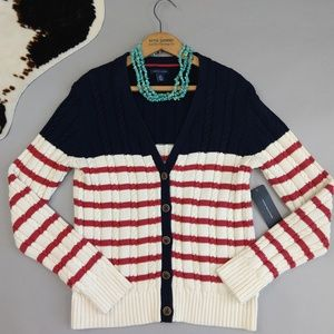 Tommy Hilfiger Cardigan American Flag Red White